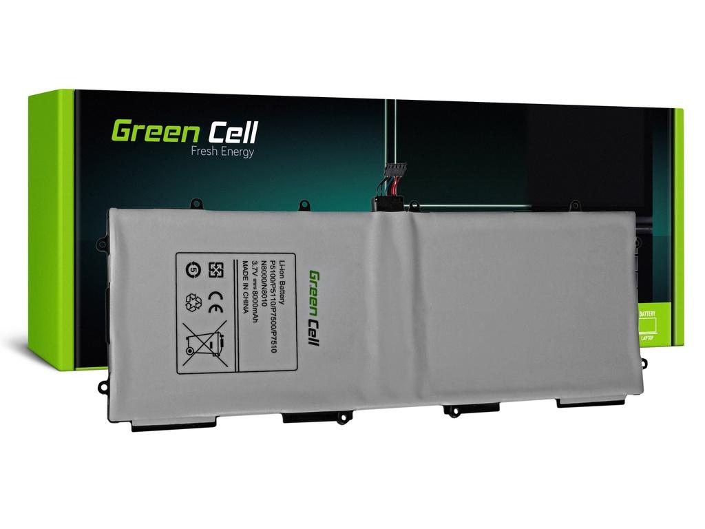 Baterija Green Cell SP3676B1A za Samsung Galaki Tab 10.1 P7500 P7510, Tab 2 10.1 P5100 P5110, Napomena 10.1 N8000 N8010