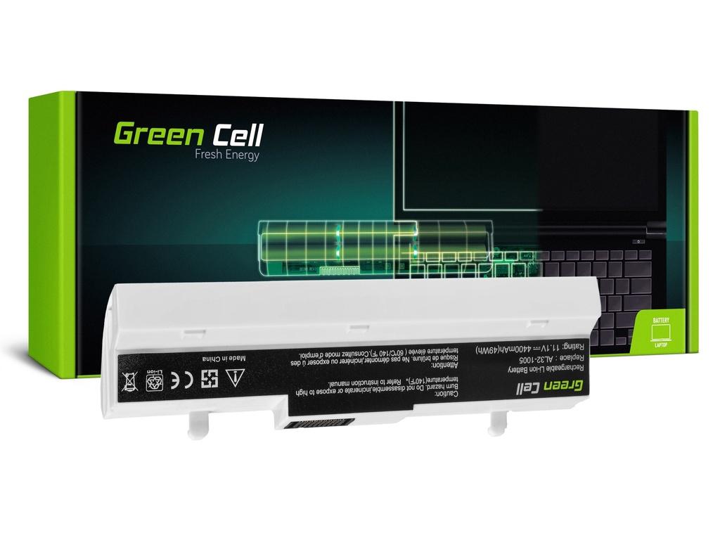 Baterija Green Cell za Asus Eee-PC 1001 1001P 1005 1005P 1005H (white) / 11,1V 4400mAh