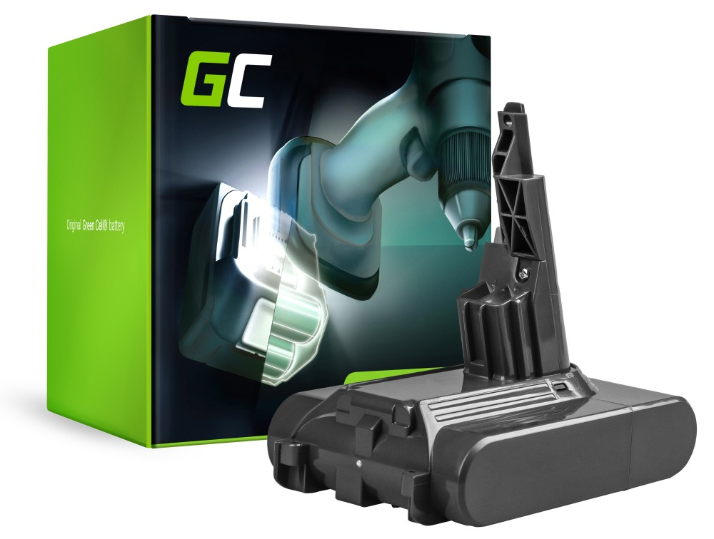 Baterija (3Ah 21,6 V) 968670-02 968670-03 968670-06 SV11 Green Cell za Dyson V7 Animal Pro + Apsolutni automobil + Okidač broda