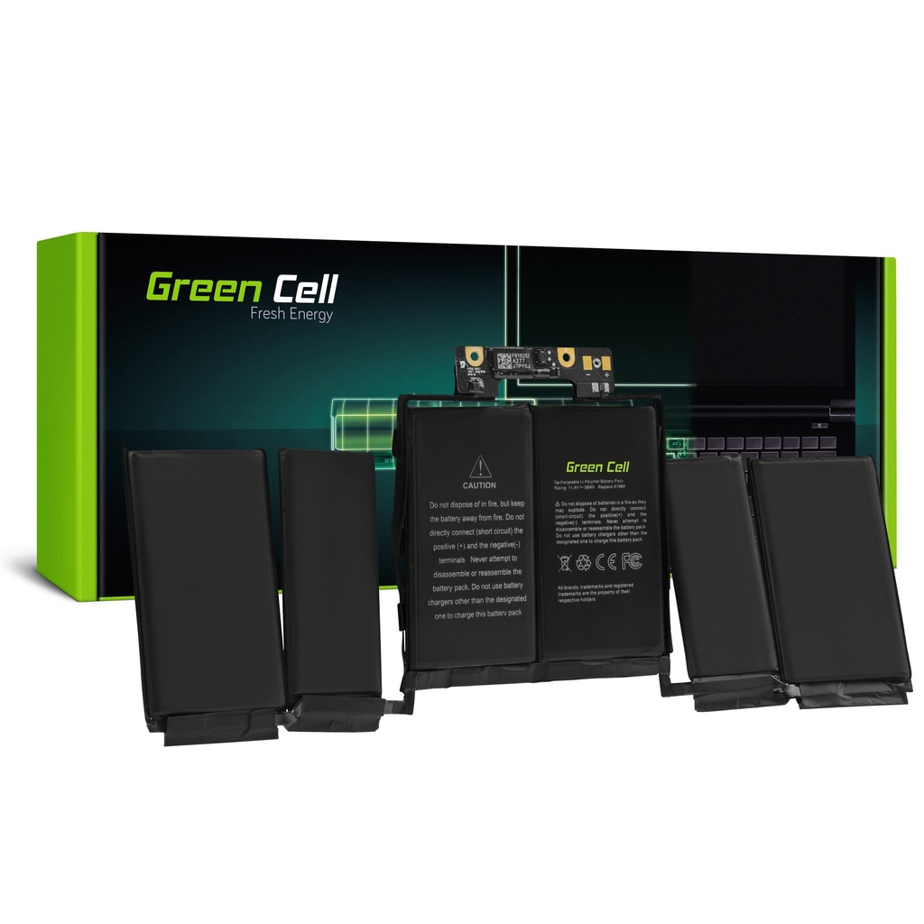 Baterija Green Cell A1964 za Apple MacBook Pro 13 A1989 (2018 i 2019, 4 porta thunderbolt)