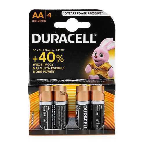 Baterija alkalna 1.5V AA LR6 blister 4/1 Duracell