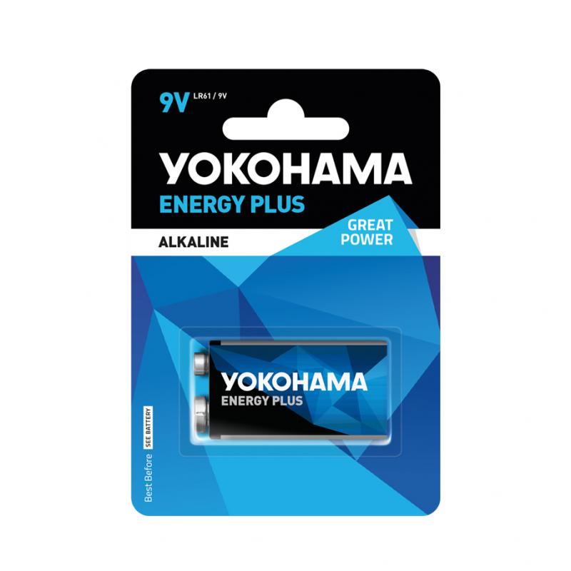Baterija alkalna Yokohama 9V 6LR61 Energy Plus 1BL