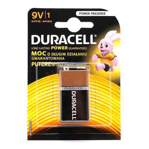 Baterija alkalna 9V 6LP3146/MN1604 blister 1/1 Duracell