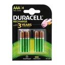 Baterija NiMh punjiva 1.2V 750mAh AAA HR03 blister 4/1 Duracell