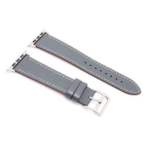 [MSM.R1250] Narukvica za Apple Watch 1-4 sat 38/40mm kozna siva BIKSTON