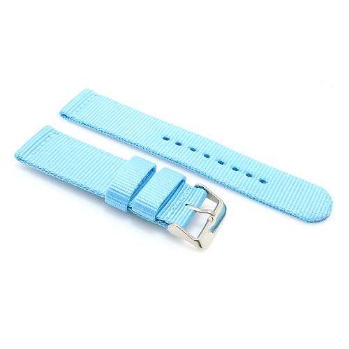[MSM.R1635] Narukvica za Samsung S3 sat 22mm platnena svetlo plava BIKSTON