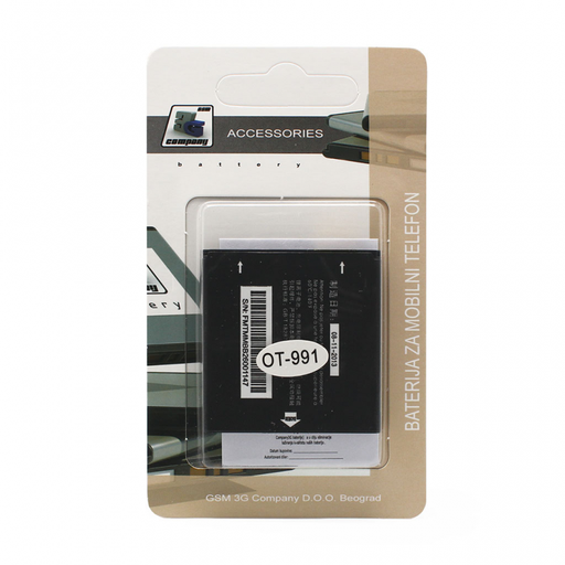 [3GC27480] Baterija standard za Alcatel OT-991/992D/OT6010 1500mAh