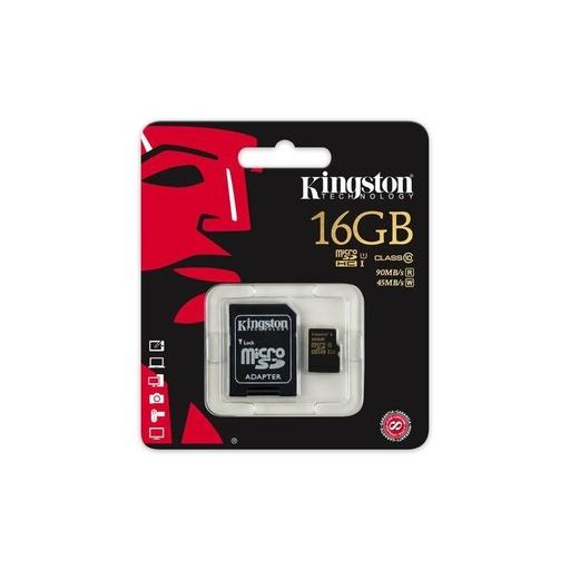 [SDCA10/16GB] Kingston microSD 16GB memorijska kartica UHS-I + SD adapter