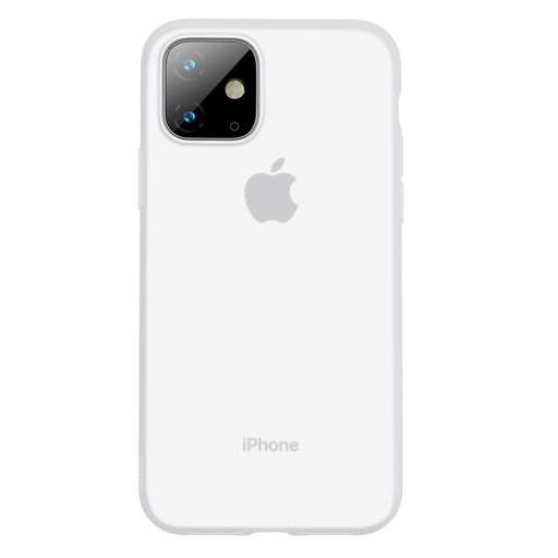 [3GC76484] Futrola Baseus Jelly Liquid za iPhone 11 6.1 transparent bela