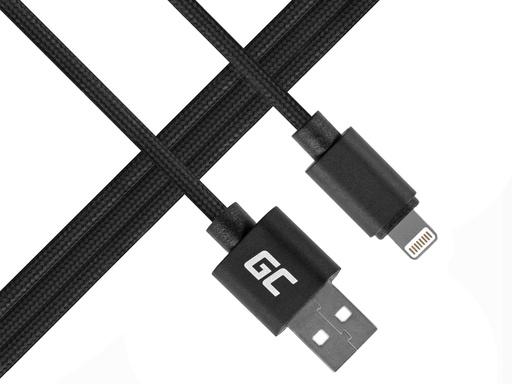 [GCL.KAB31L] Green Cell Lightning-USB za Apple iPhone iPad Nilon 1m kabl