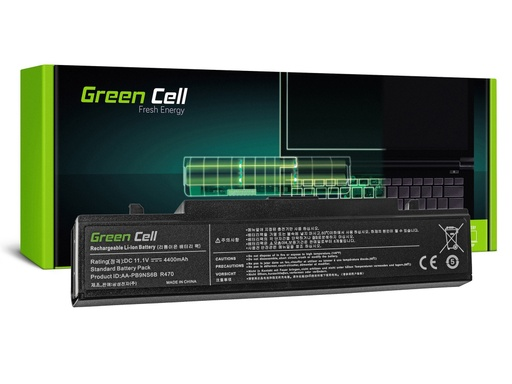 [GCL.SA01] Baterija Green Cell AA-PB9NC6B za Samsung R519 R522 R530 R540 R580 R620 R719 R780 (crna) / 11,1V 4400mAh