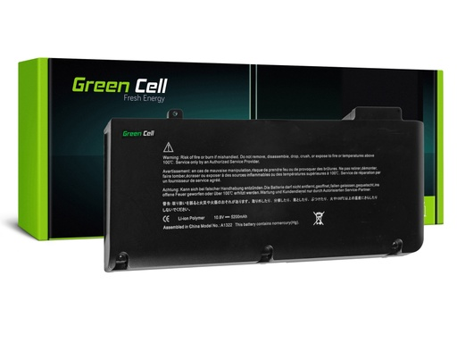 [GCL.AP06] Green Cell baterija A1322 za Apple Macbook Pro 13 A1278 Green Cell baterija A1322 za prenosnik Apple MacBook Pro 13 A1278 Mid 2009 - Mid 2012