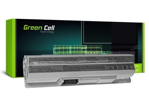 [GCL.MS11] Green Cell Baterija za MSI Vind U91 L2100 L2300 U210 U120 U115 U270 (bela) / 11,1V 4400mAh