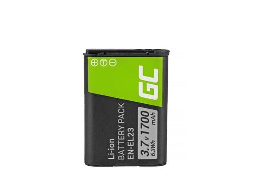 [GCL.CB36] Green Cell baterija EN-EL23 Nikon Coolpik B700, P600, P610, P900, S810C 3.7V 1700mAh