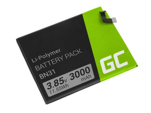 [GCL.BP100] Green Cell Baterija za pametni telefon BN31 Ksiaomi Mi A1 5Ks Note 5A Redmi S2 I2