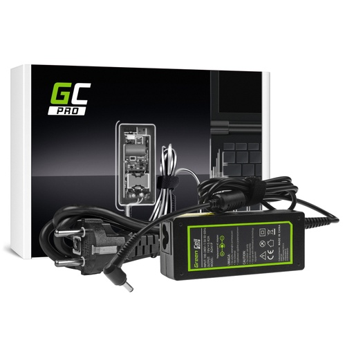 [GCL.AD41P] AC adapter Green Cell PRO 19V 3.42A 65V za Asus F553 F553M F553MA R540L R540S Ks540S Ks553 Ks553M Ks553MA ZenBook UKS303L