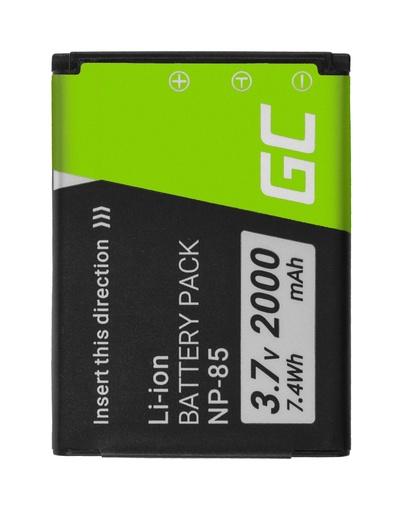 [GCL.CB80] Baterija Green Cell ® NP-85 NP85 za fotoaparate FujiFilm FinePik SL300, SL305, SL280, SL260, SL240 3.7V 2000mAh