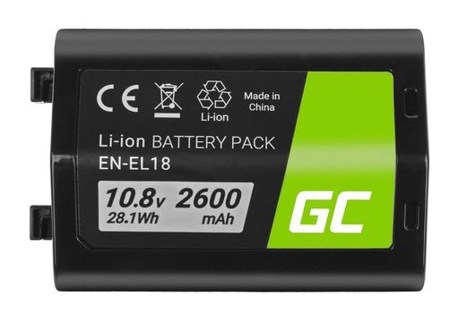 [GCL.CB81] Baterija Green Cell ® EN-EL18 ENEL18 za fotoaparate Nikon D4, D4S, D5 10,8V 2600mAh