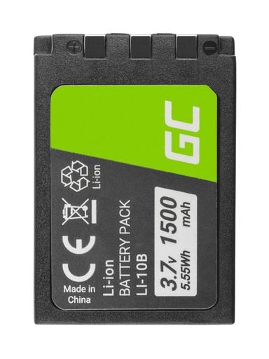 [GCL.CB82] Baterija Green Cell ® Li-10B LI-10B za fotoaparate Olimpus Stilus 300, µ 800, Camedia Ks-2 3.7V 1500mAh
