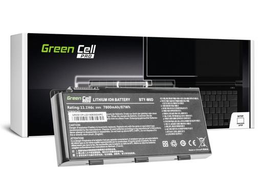 [GCL.MS10PRO] Green Cell PRO Baterija za MSI GT60 GT70 GT660 GT680 GT683 GT780 GT783 GKS660 GKS680 GKS780 / 11,1V 6600mAh