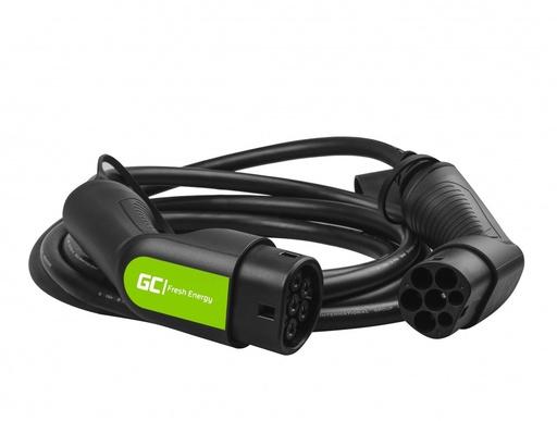 [GCL.EV07] Kabl Green Cell GC Tip 2 22kV 16,4 ft za punjenje EV Tesla Leaf Ionik Kona E-tron Zoe