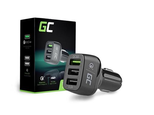 [GCL.CAD34] Green Cell punjač u automobilu sa 3kUSB i Kuick Charge 3.0