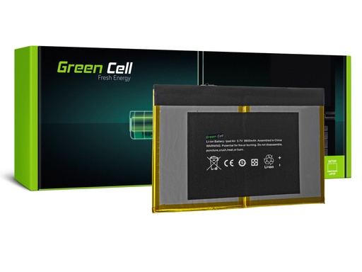 [GCL.TAB01] Green Cell Battery A1484 for Apple iPad Air 1 Generation A1474 A1475 A1476 8000mAh