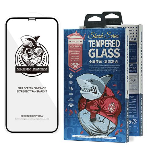 [HRT.63407] Proda Shark Full Glue Staklo za iPhone 12 Pro Max crna