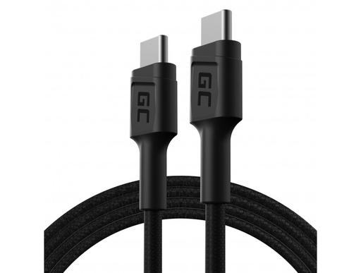 [GCL.KABGC30] Kabl Green Cell GC PoverStream USB-C - USB-C 120 cm sa isporukom napajanja (60V), 480 Mbps, ultra punjenje, KC 3.0