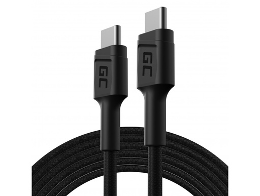 [GCL.KABGC29] Kabl Green Cell GC PoverStream USB-C - USB-C 200 cm sa isporukom napajanja (60V), 480 Mbps, ultra punjenje, podrška za KC 3.0