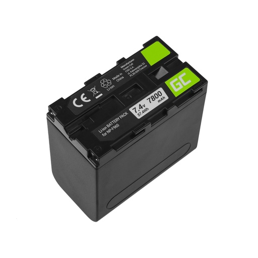 [GCL.CB88] Baterija Green Cell NP-F960 NP-F970 NP-F975 za Sony 7.4V 7800mAh