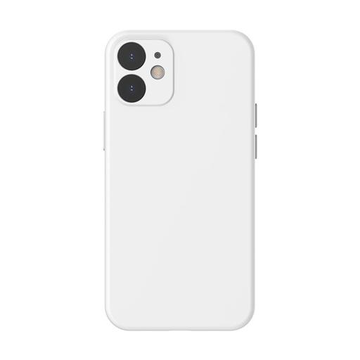 [HRT.64084] Baseus Liquid Silica Gel futrola za iPhone 12 Pro / iPhone 12 bela