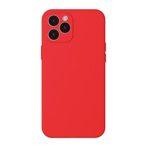 [HRT.64088] Baseus Liquid Silica Gel futrola za iPhone 12 Pro crvena