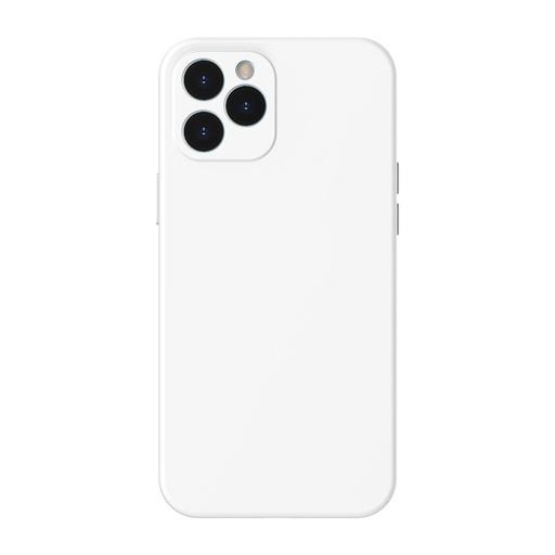 [HRT.64094] Baseus Liquid Silica Gel futrola za iPhone 12 Pro Max bela