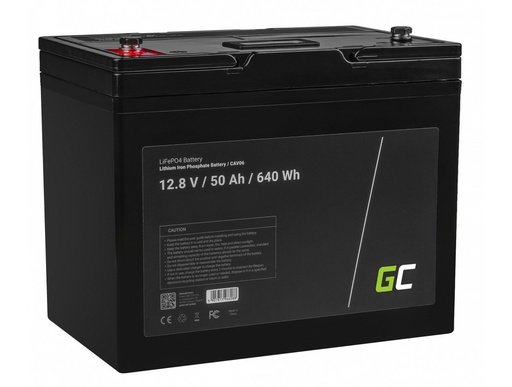 [GCL.CAV06] LiFePO4 battery 50Ah 12.8V 640Wh lithium iron phosphate battery photovoltaic system camping truck