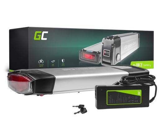 [GCL.EBIKE68STD] Green Cell® E-Bike Akku 36V 13Ah Li-Ion Pedelec Rear Rack Batterie mit Ladegerät