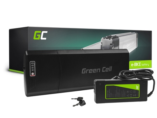[GCL.EBIKE67STD] Green Cell® E-Bike Battery 36V 10.4Ah Li-Ion Rear Rack with Charger