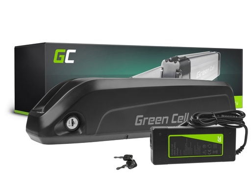 [GCL.EBIKE70STD] Green Cell® E-Bike Battery 36V 10.4Ah Li-Ion Down Tube with Charger