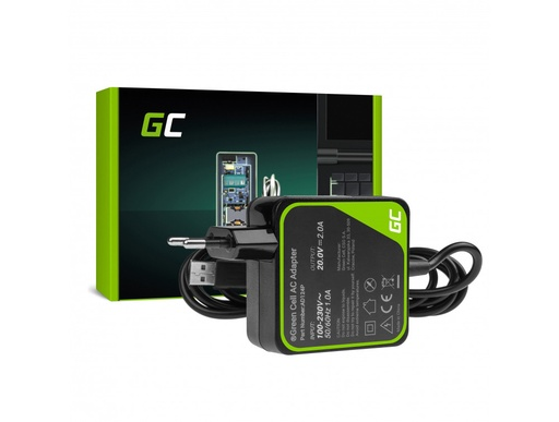 [GCL.AD124P] Charger Green Cell PRO 20V 2A 40W for Lenovo Yoga 3 and Lenovo Yoga 3 PRO