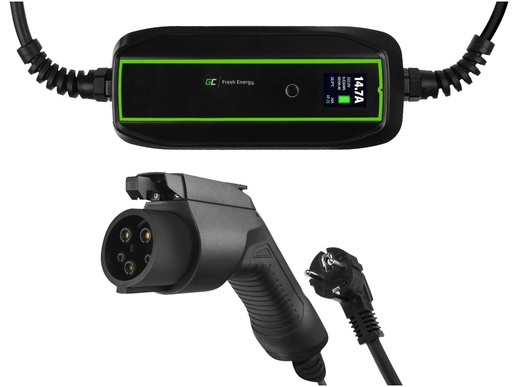 [GCL.EV17] GC EV PowerCable 3.6kW Schuko - Type 1 mobile charger for charging electric cars and Plug-In hybrids