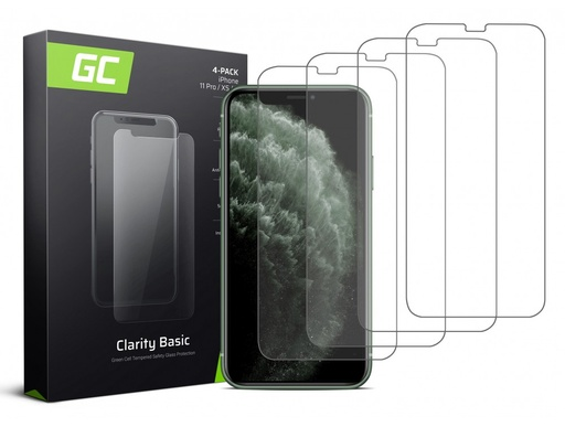 [GCL.GLSET22] 4x Screen protection GC Clarity for iPhone X / XS / 11 Pro