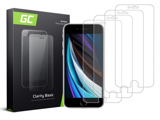 [GCL.GLSET21] 4x Screen protection GC Clarity for Phone SE 2020 / 6 / 6S / 7 / 8
