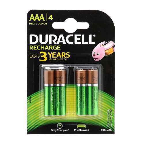 [MSM.BAT4510] Baterija NiMh punjiva 1.2V 750mAh AAA HR03 blister 4/1 Duracell